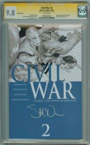 Civil War #2 Variant CGC 9.8 Signature Series Signed Steve McNiven Marvel comic book